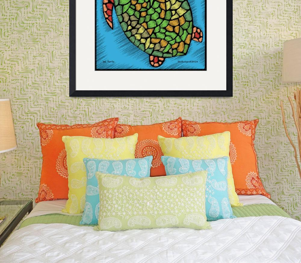 """""""Sea Turtle&quot  (2014) by tlcdesigns"""