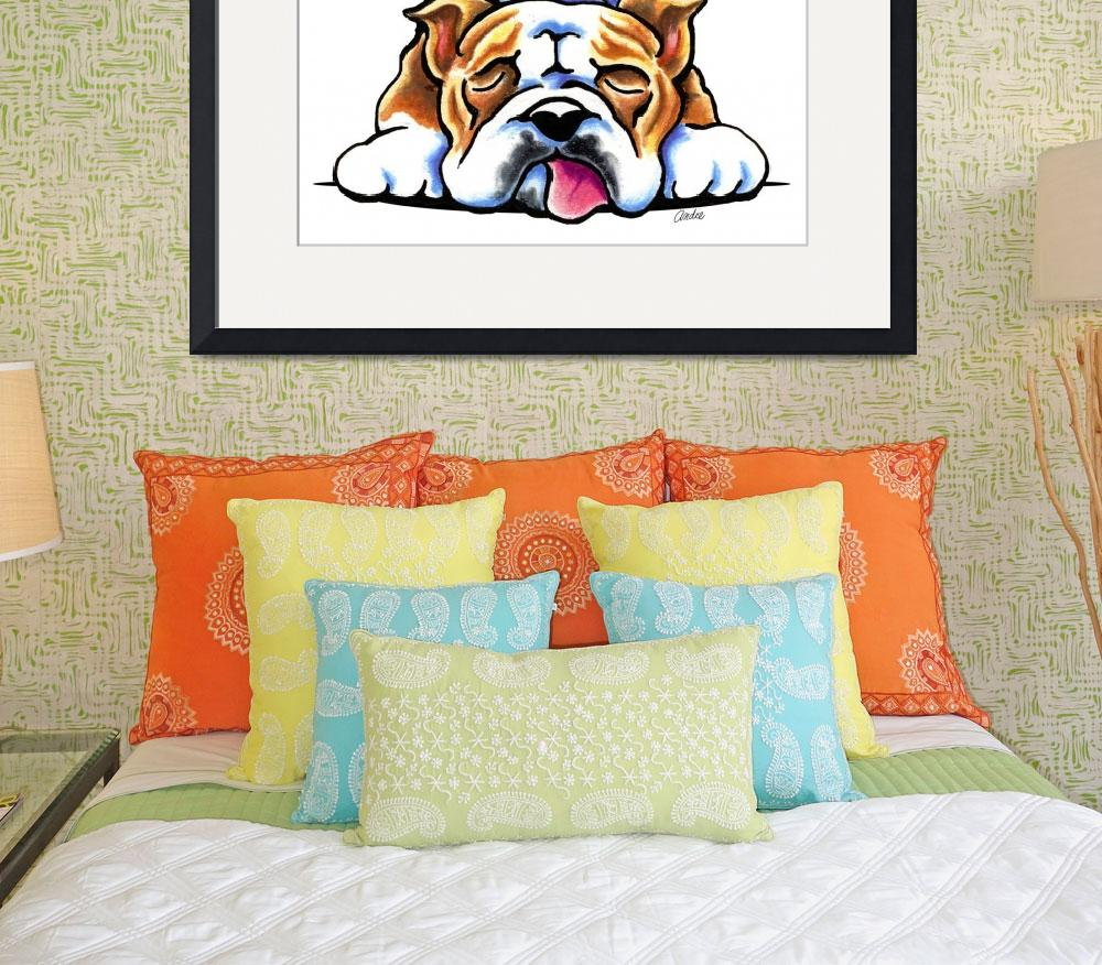 """""""Bulldog Being Adorable&quot  (2013) by OffLeashArt"""