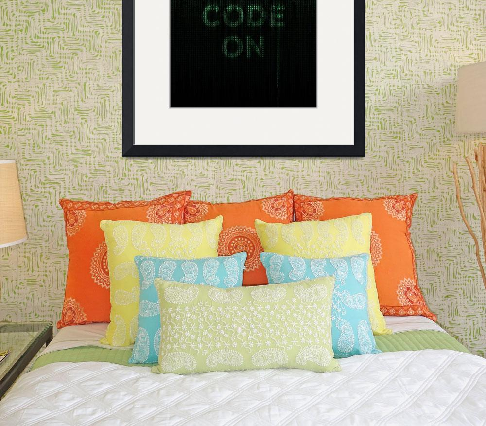 """Keep Calm and Code On&quot  (2011) by neoleague"