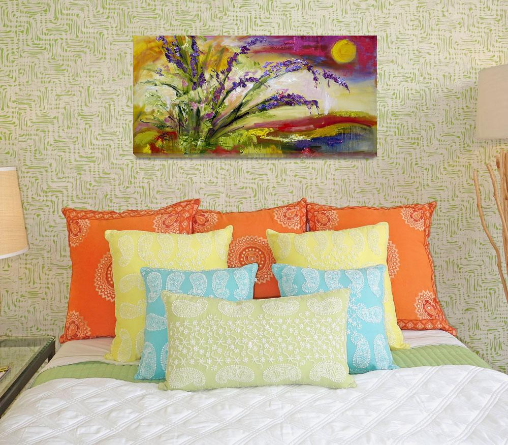 """Modern Expressive Lavender Landscape by Ginette&quot  (2011) by GinetteCallaway"