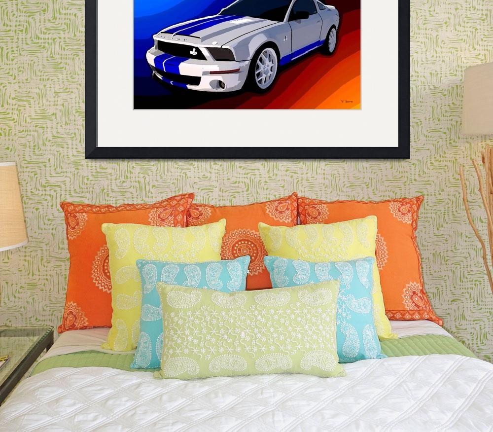 """""""Mustang Cobra&quot  (2011) by Chicagoartist1"""