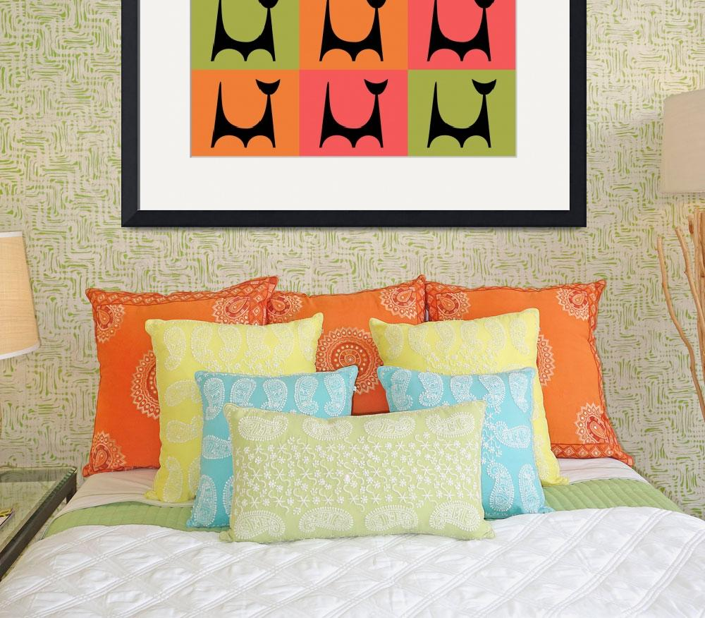 """""""Abstract Cat 2 pink orange green""""  by DMibus"""