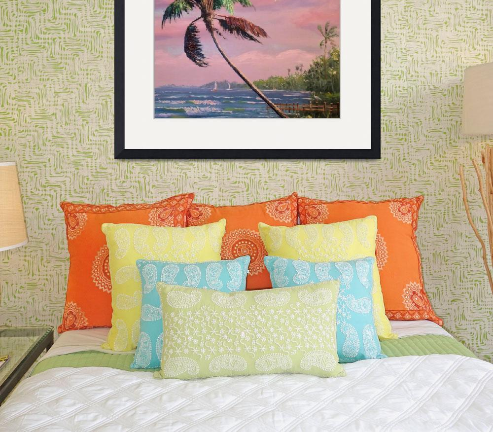 """""""Tropical Vacation Palm Tree""""  (2007) by mazz"""
