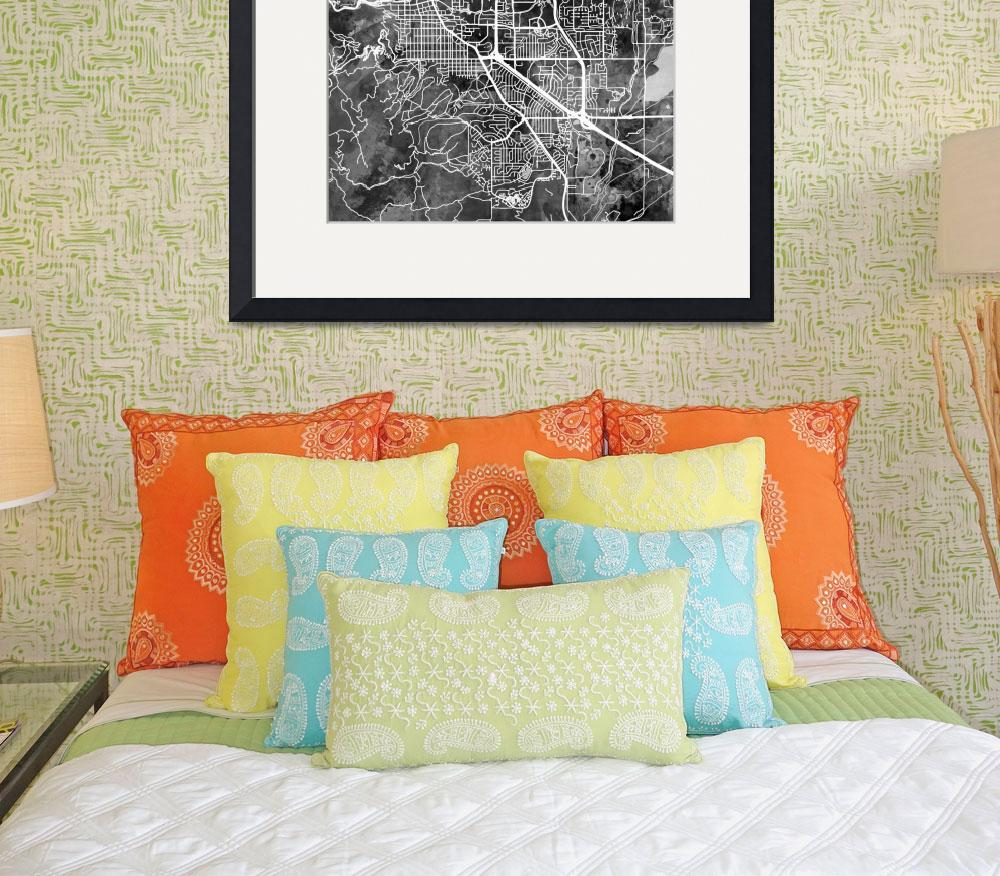 """Boulder Colorado City Map&quot  (2018) by ModernArtPrints"