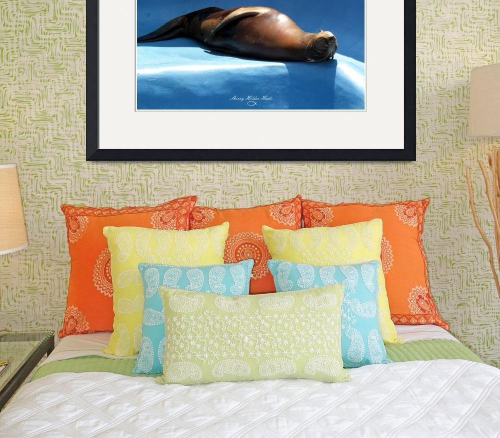 """""""Nap Time - Sea Lion&quot  (2009) by SherryHolderHunt"""