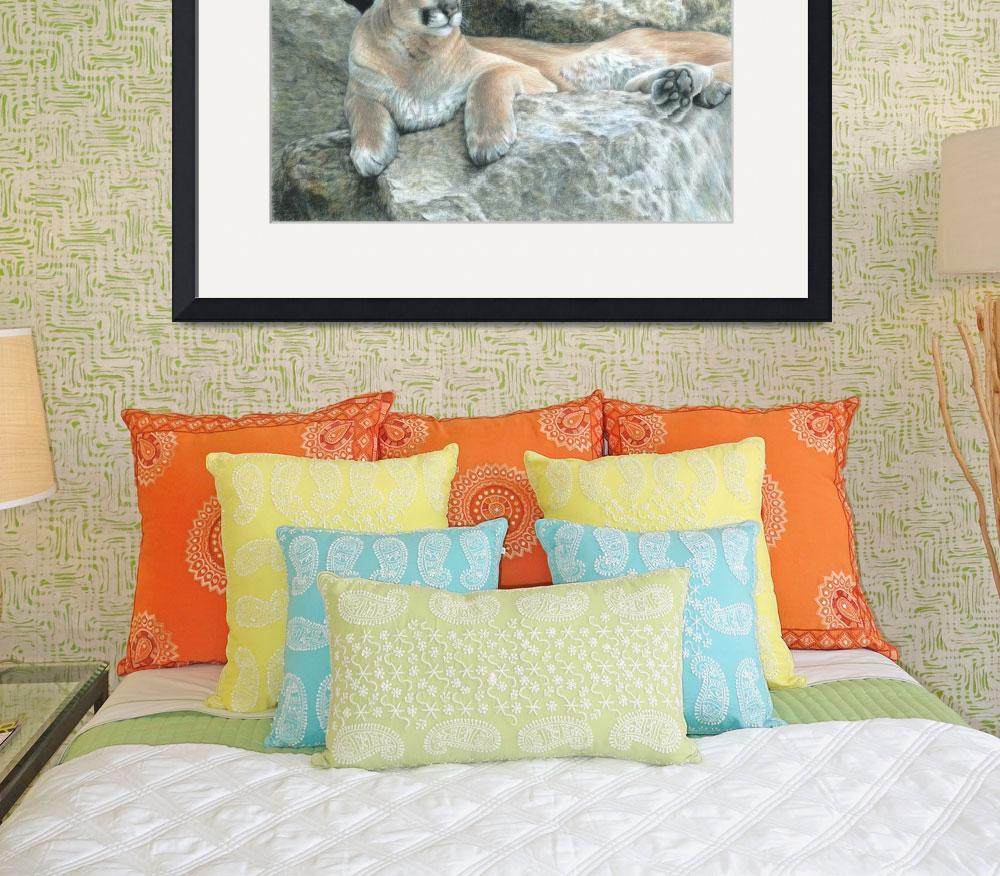 """""""Cougar Haven&quot  (2011) by CarlaKurtArt"""