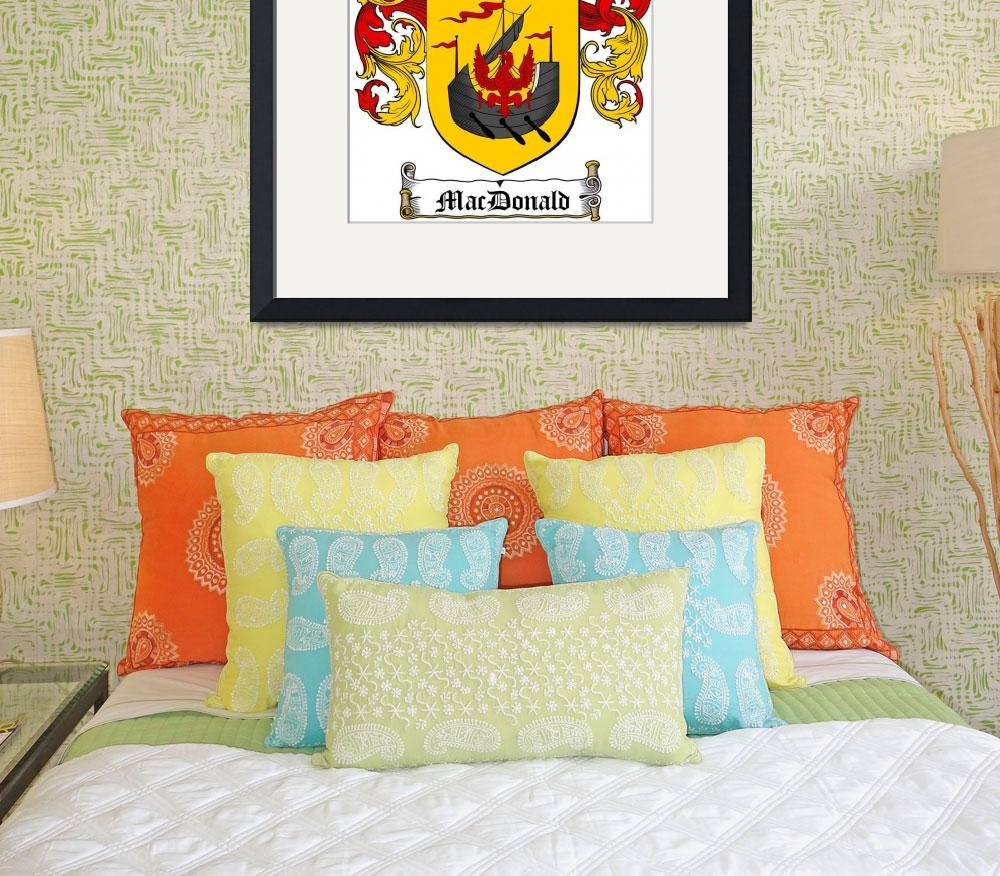 """""""MACDONALD FAMILY CREST - COAT OF ARMS&quot  by coatofarms"""