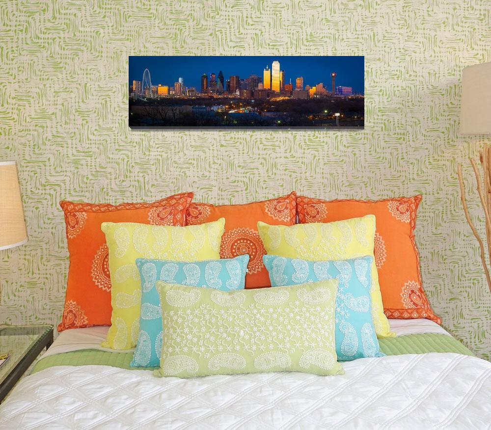"""""""Dallas Downtown Panorama""""  (2013) by Inge-Johnsson"""