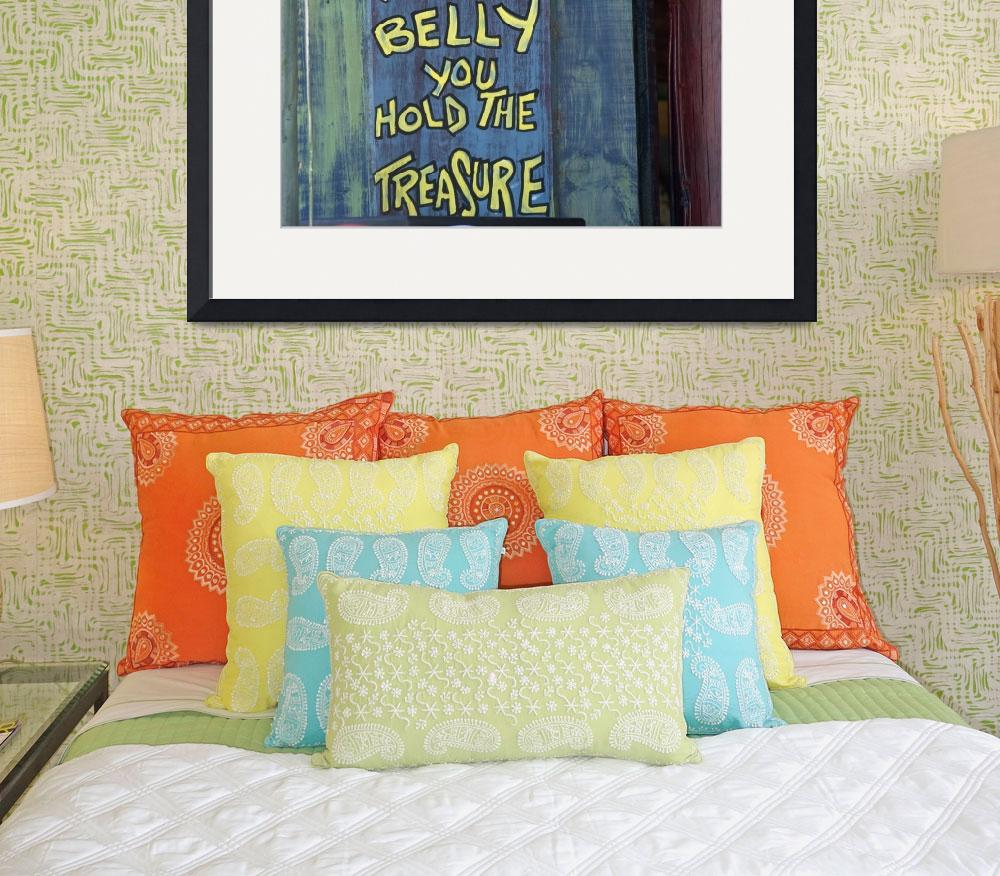 """belly_sign&quot  (2005) by ninafuller"