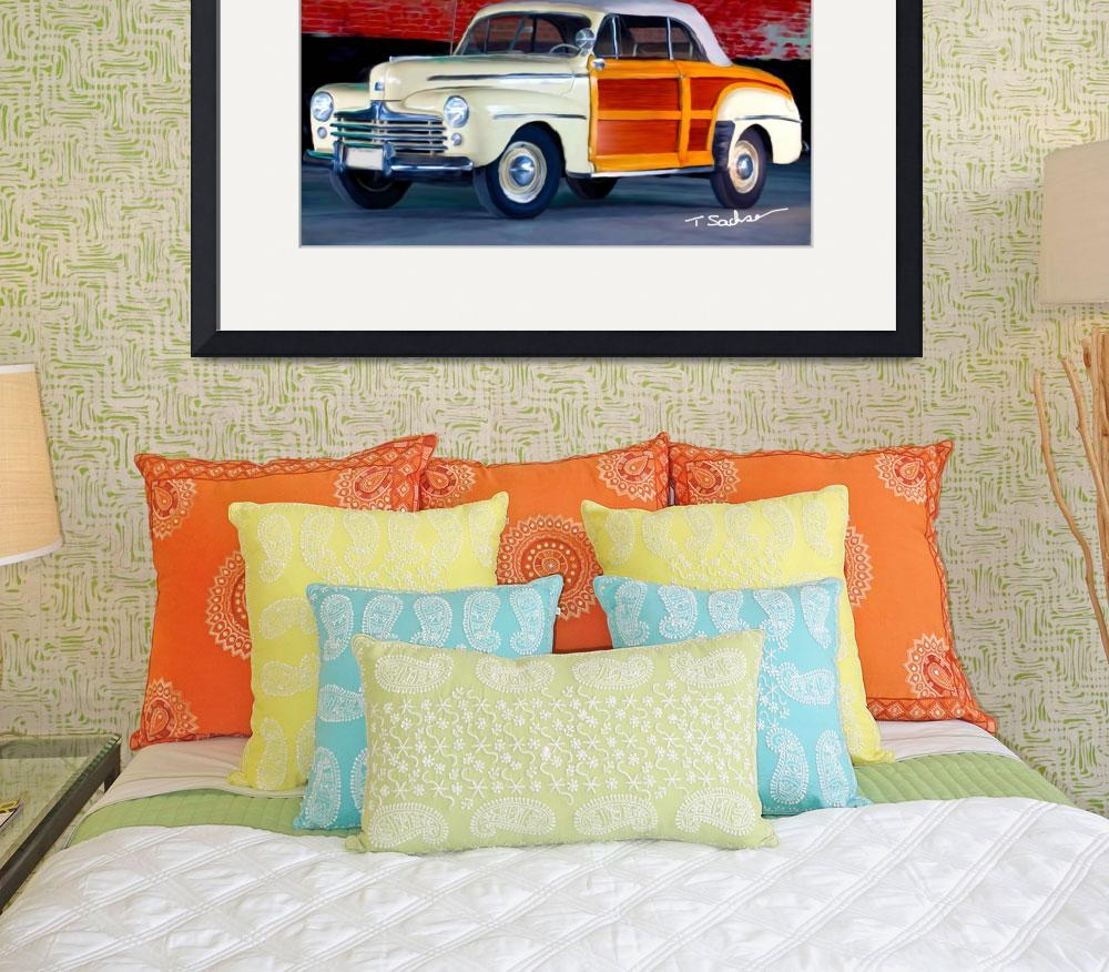 """""""1948 ford super delux sportsman convertible woodie&quot  by ArtbySachse"""