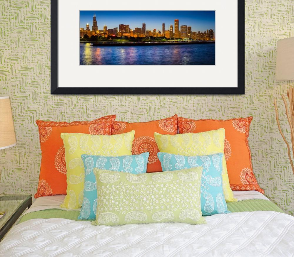 """""""Chicago Skyline&quot  (2013) by Inge-Johnsson"""