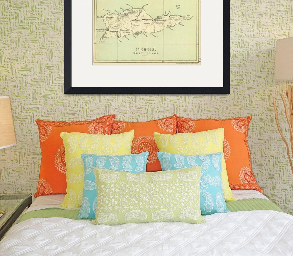 """Vintage Map of The Virgin Islands (1853)&quot  by Alleycatshirts"