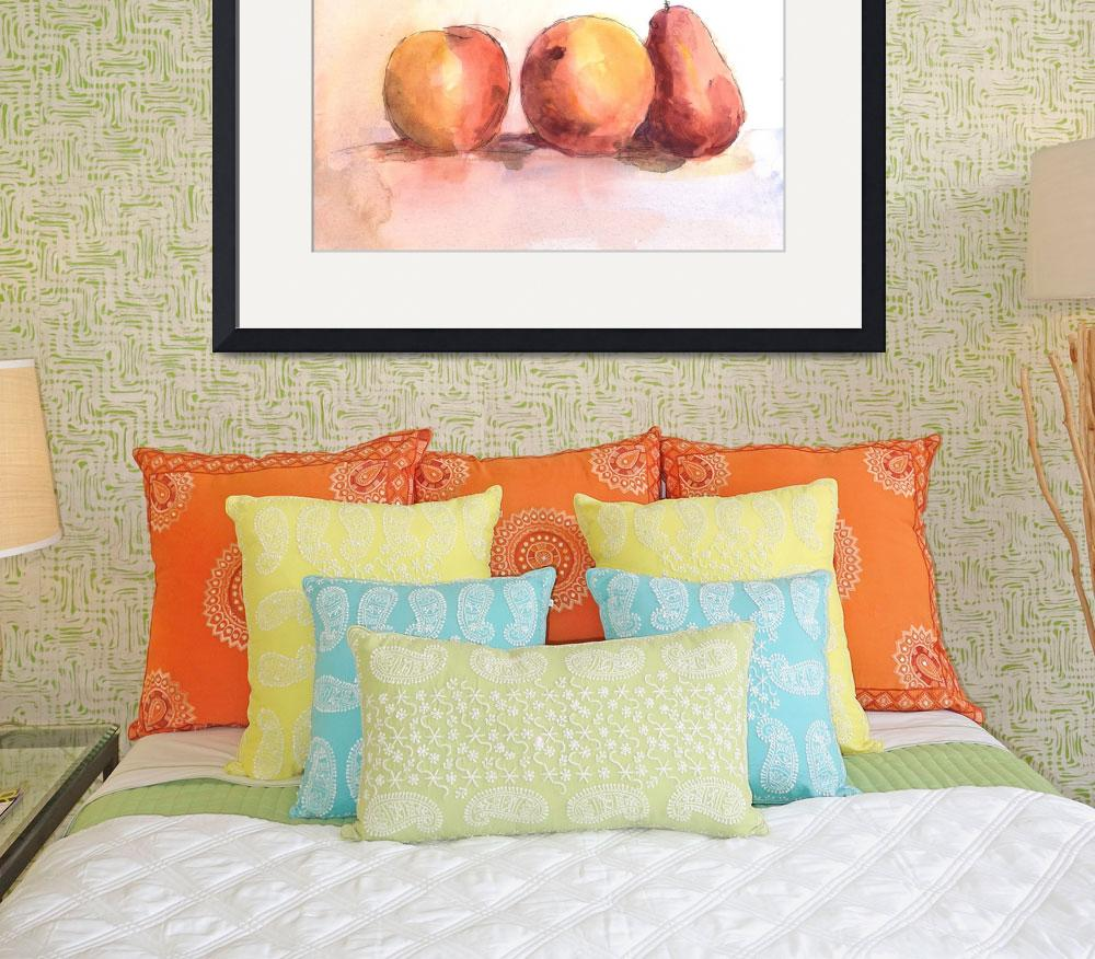 """""""Fruit Trio - Tangerines and Pear&quot  (2008) by tolunart"""
