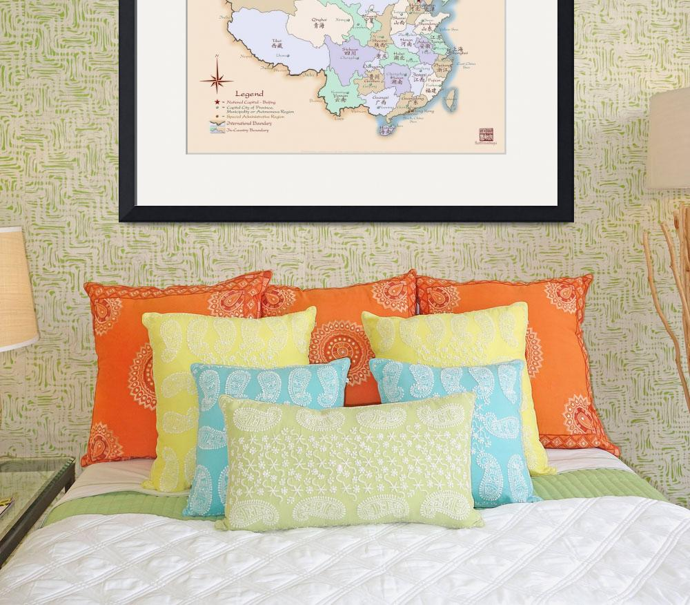 """""""China Map Special Edition Fine Art&quot  (2008) by redthreadmaps"""