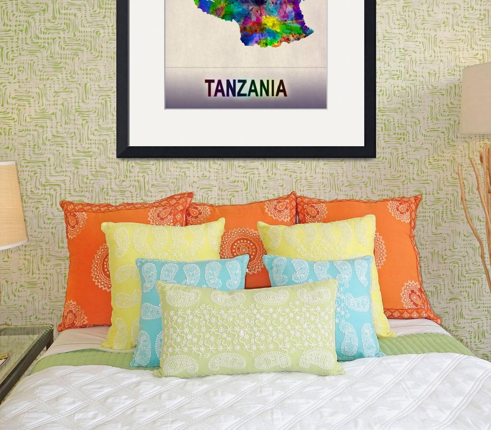 """""""Tanzania Map""""  by Towseef"""