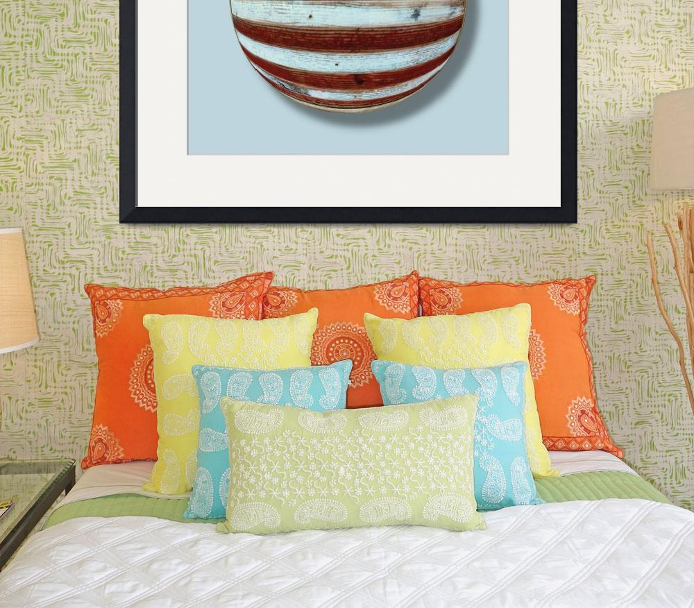 """""""American Flag Wood Orb&quot  (2013) by RubinoFineArt"""