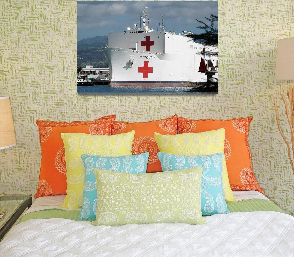 """The Military Sealift Command hospital ship USNS Me""  by stocktrekimages"
