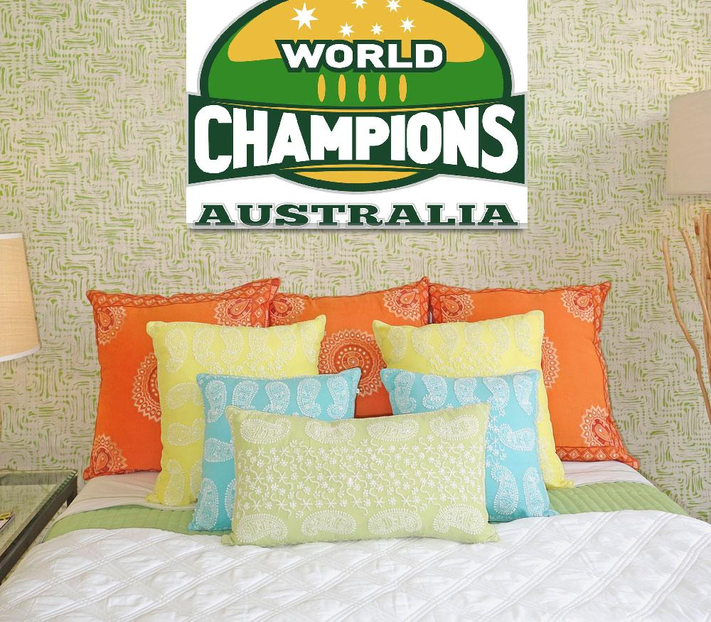 """rugby ball world champions australia""  (2013) by patrimonio"