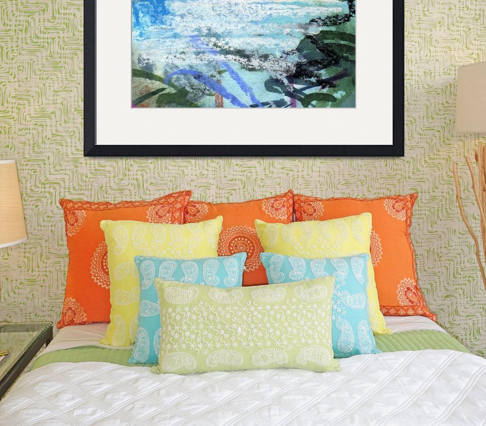 """""""Seafoam and Water Abstract by Ginette Callaway&quot  (2011) by GinetteCallaway"""