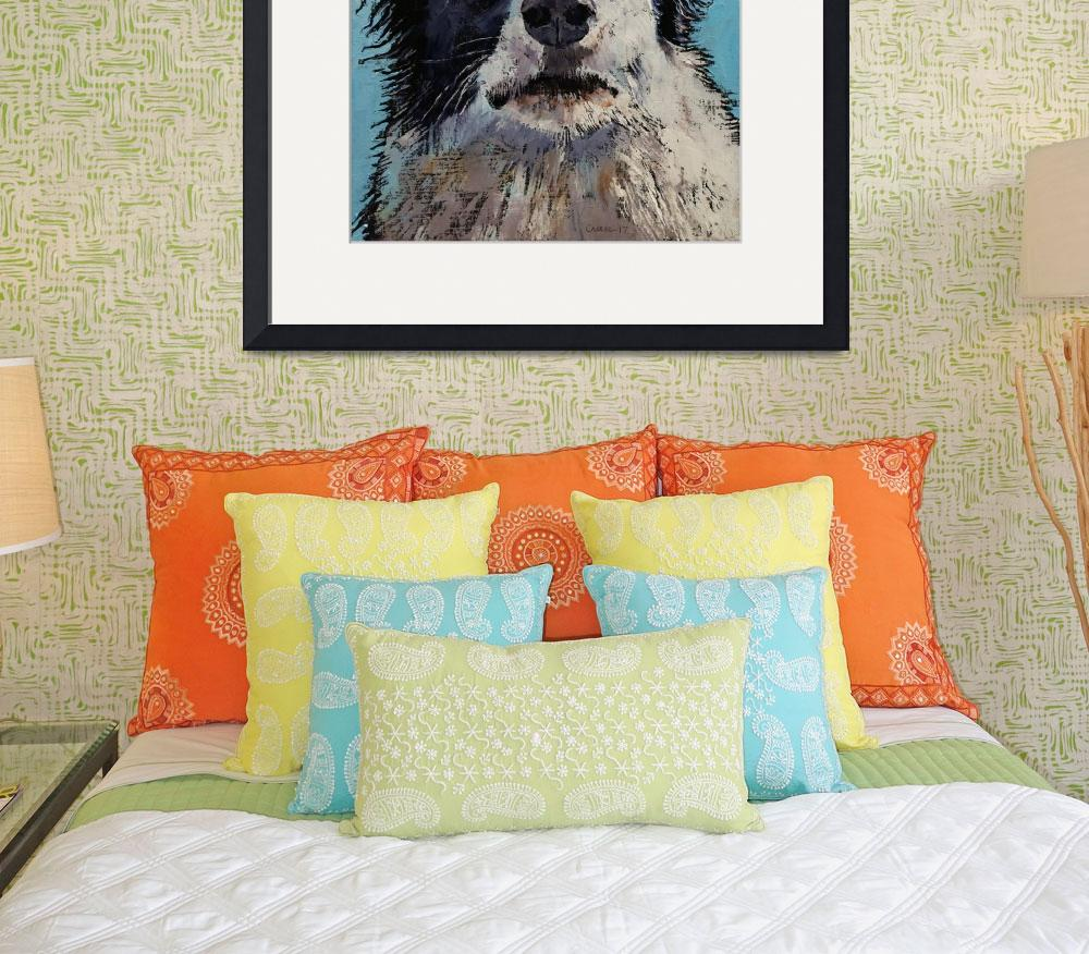 """Border Collie Portrait&quot  by creese"