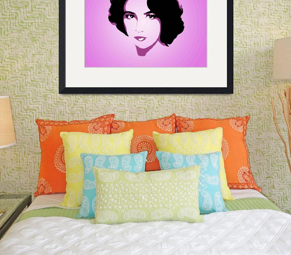 """Elizabeth-Taylor sketch1""  by KTILLETTARTGALLERY"