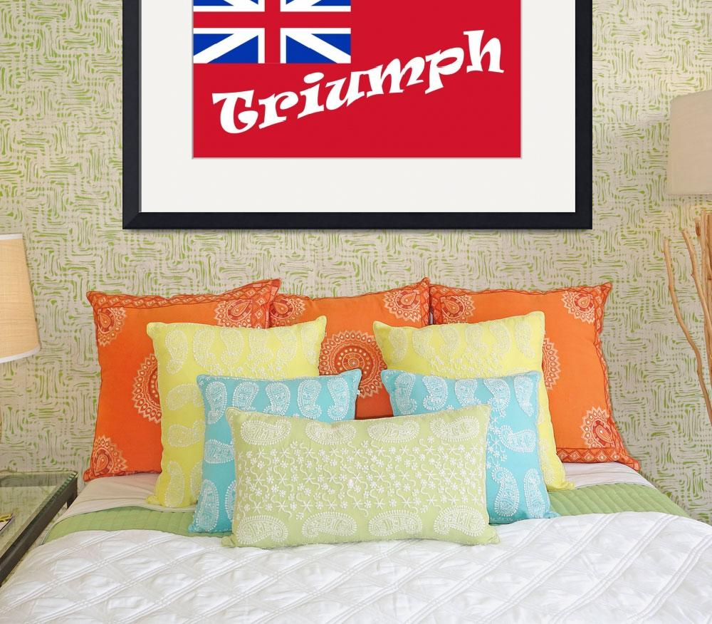 """""""British Red Ensign Truymph&quot  (2008) by bulldogblues"""