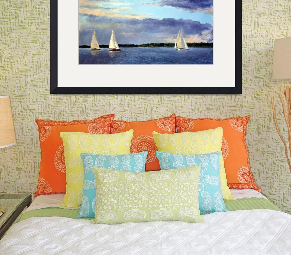 """""""Evening Sail, Watch Hill 15s""""  (2012) by blaney"""