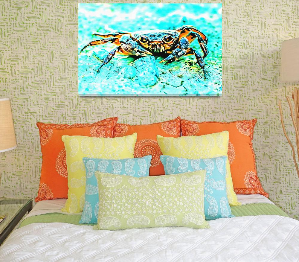 """Teal Blue Crab&quot  (2015) by MRevell"