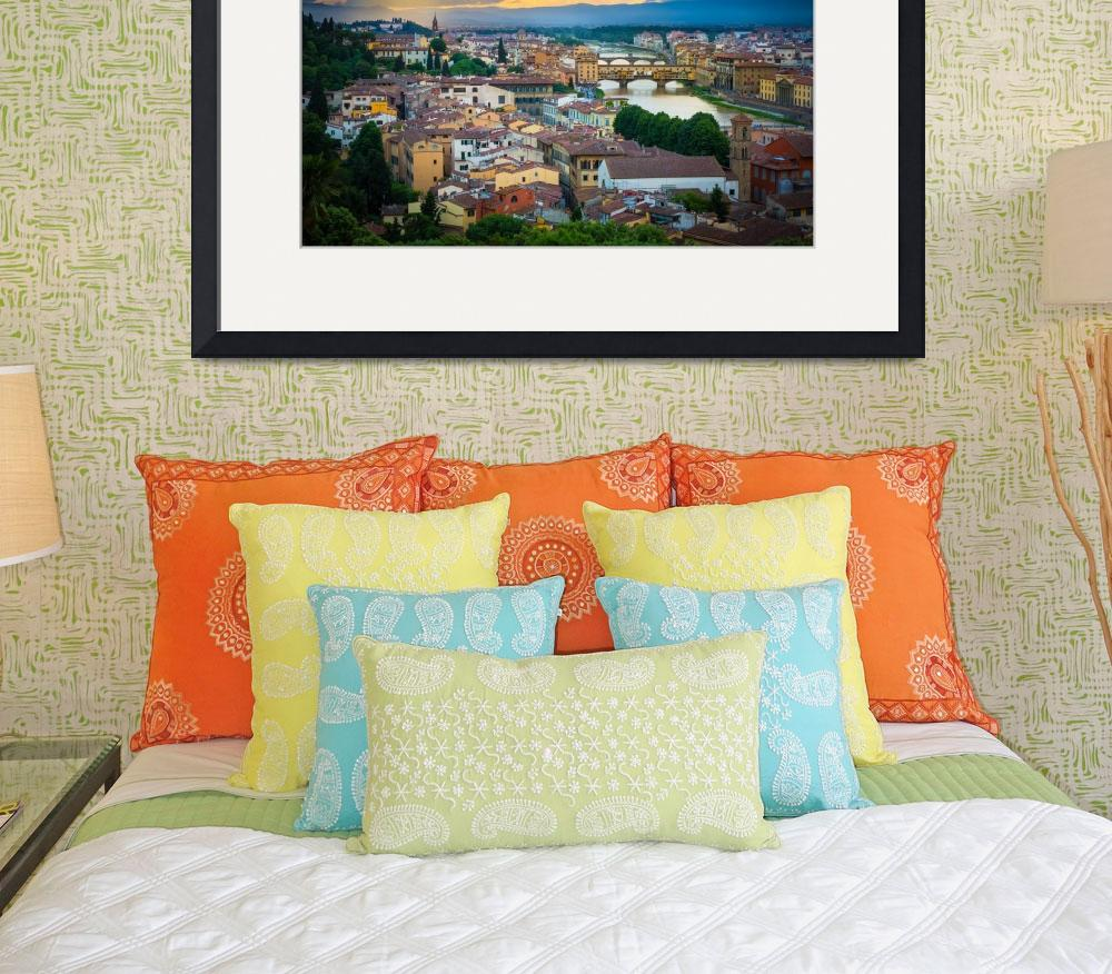 """""""Firenze Sunset&quot  (2013) by Inge-Johnsson"""