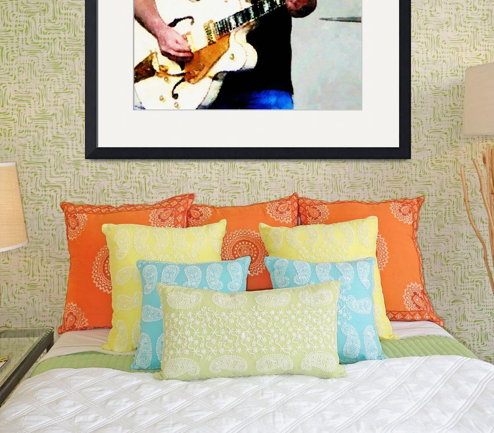 """""""Playing A White Guitar&quot  by susansartgallery"""
