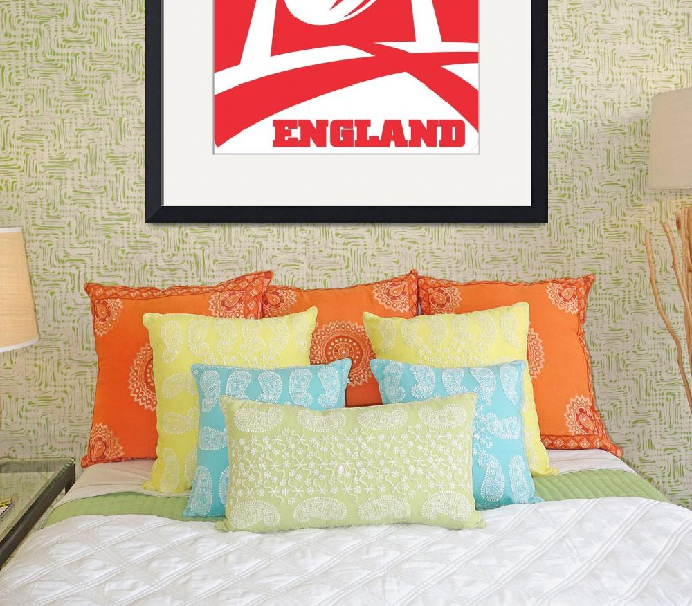 """""""England Rugby Ball Goal Post""""  (2013) by patrimonio"""