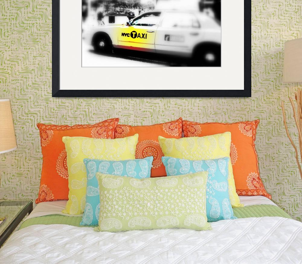 """""""NYC TAXI ON PARK AVENUE""""  (2009) by Funkpix"""