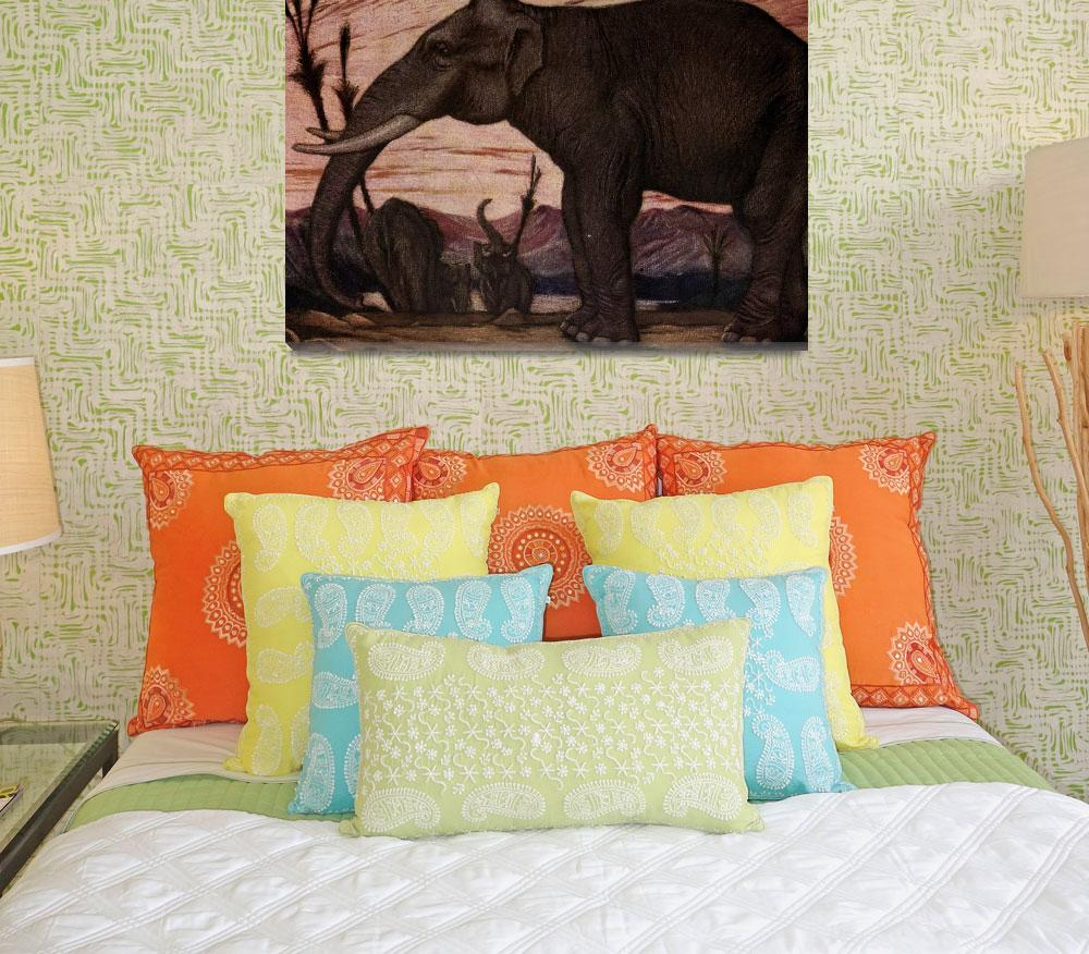 """""""Vintage Elephant Painting (1909)&quot  by Alleycatshirts"""