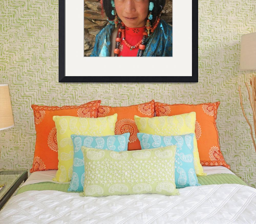 """""""turquoise girl&quot  by tibet"""