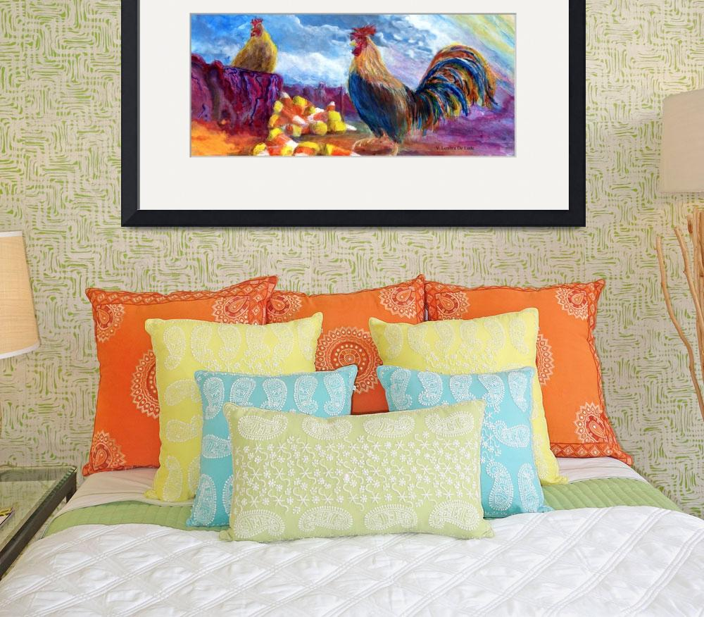"""""""Chickens and Candy Corn&quot  (2005) by Lenora"""