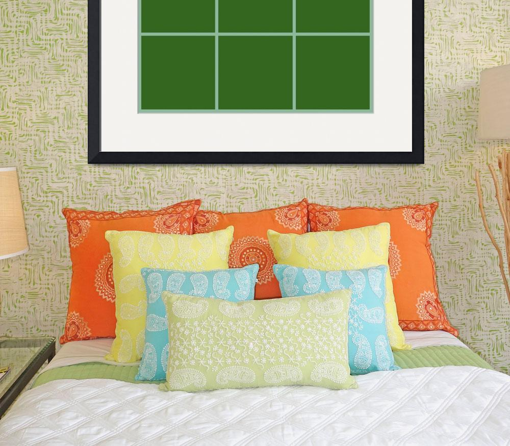 """Green Window 085 Canvas Contemporary Modern&quot  (2010) by Ricardos"