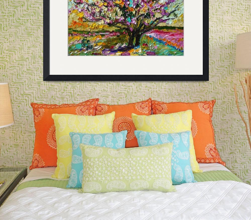 """""""Tulip Magnolia Tree Impressionist Oil Painting by&quot  (2010) by GinetteCallaway"""