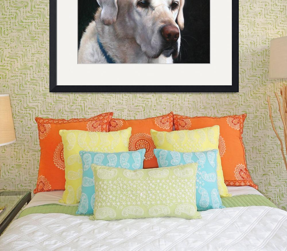 """""""Portrait of A Yellow Lab&quot  (2008) by sandybuckley"""