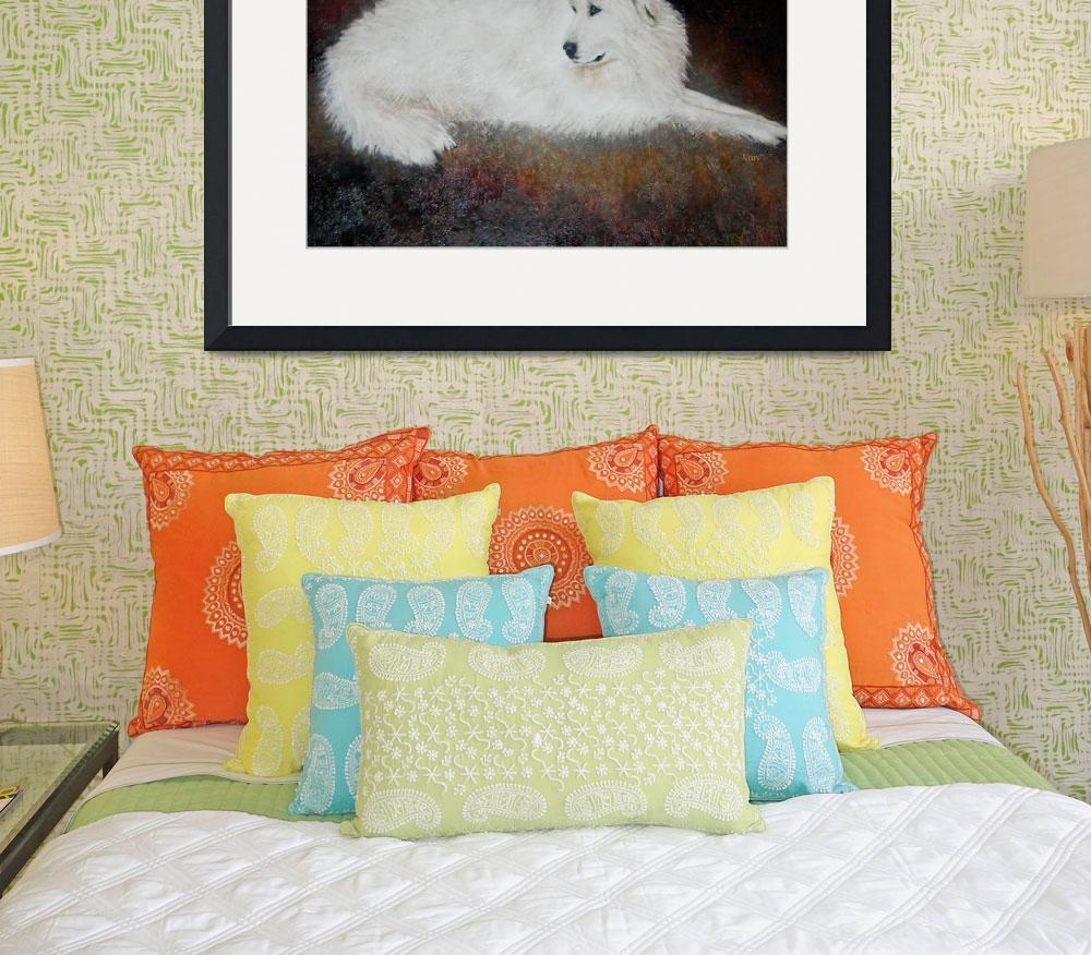 """""""Great Pyrenees&quot  (2007) by Nanwright"""