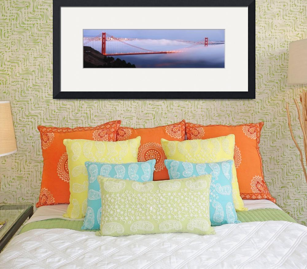 """""""Golden Gate Bridge at dusk panorama&quot  by canbalci"""