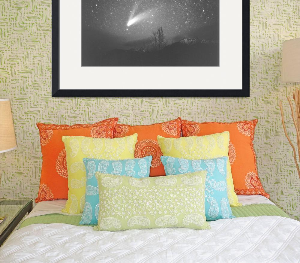 """""""Olympic Mountains / Comet Hale-Bopp&quot  (1997) by StarmanMike"""