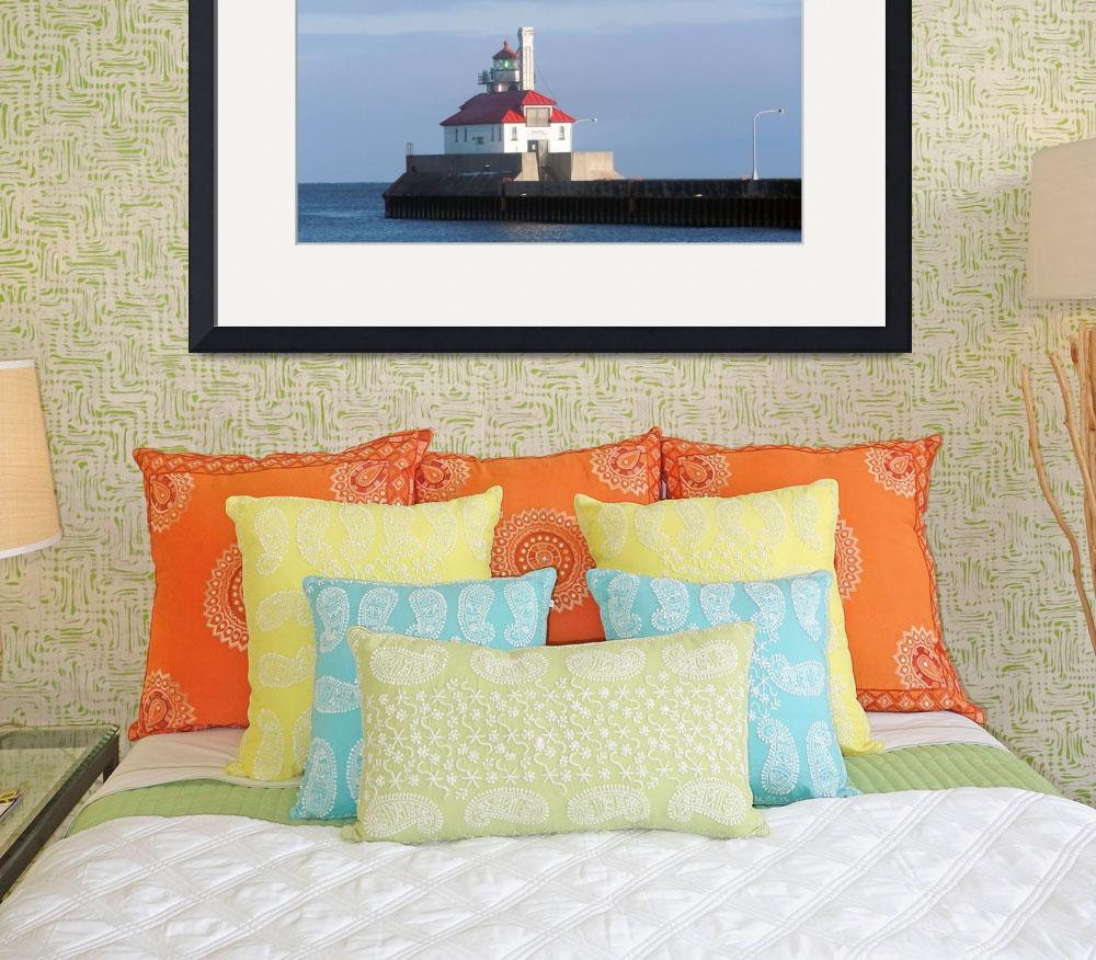 """""""Lighthouse 2 Lake Superior, Duluth Minnesota Canal&quot  (2010) by LJdesigns"""