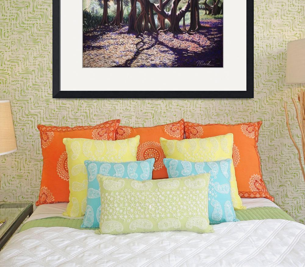 """Banyan Trees-Cutler Road - Pastel""  by stephenbmack"