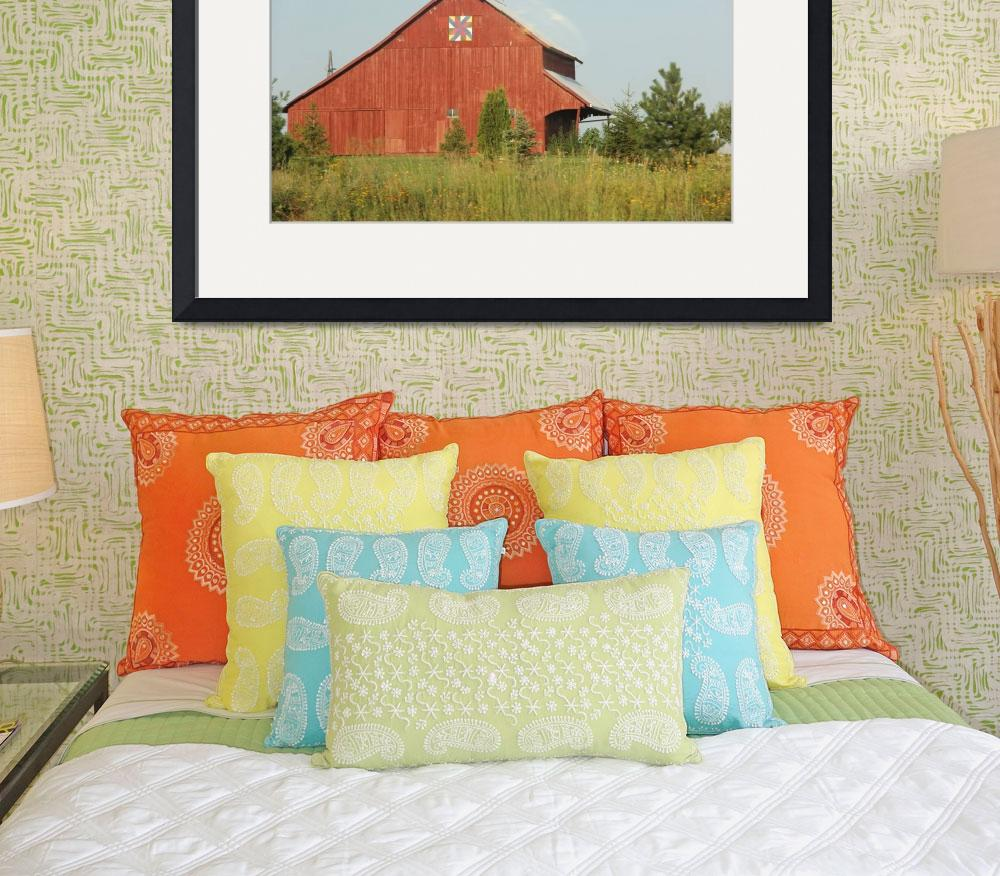 """""""Midwest Barns 32&quot  (2013) by lisaarundale"""