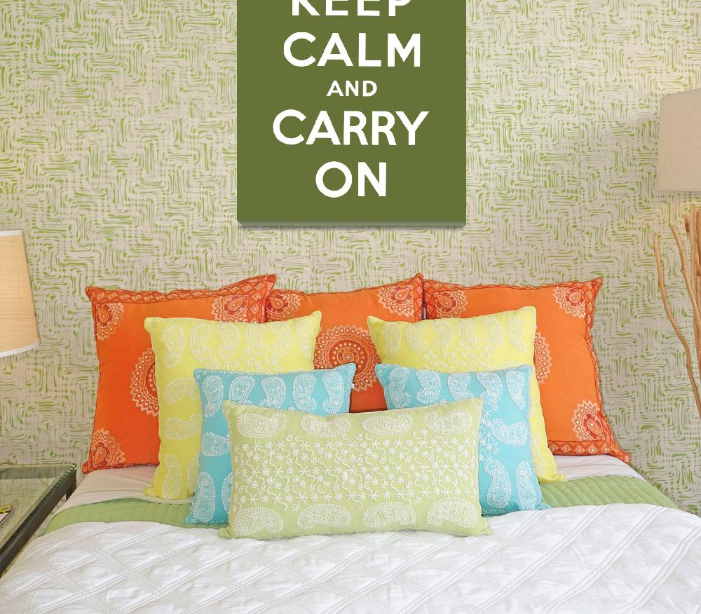 """Green Keep Calm And Carry On 5""  by oldies"