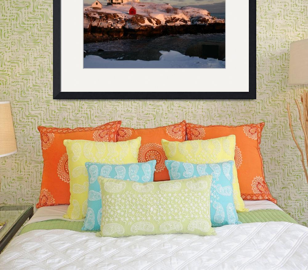 """""""Nubble Light Winter Sunset""""  (2011) by IMAGESDEZIGNS"""