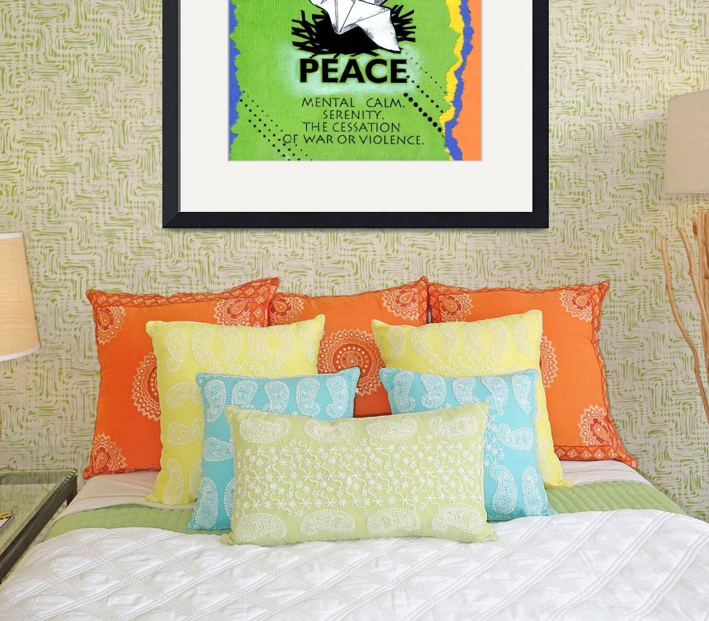 """""""peace poster&quot  (2012) by kogi"""