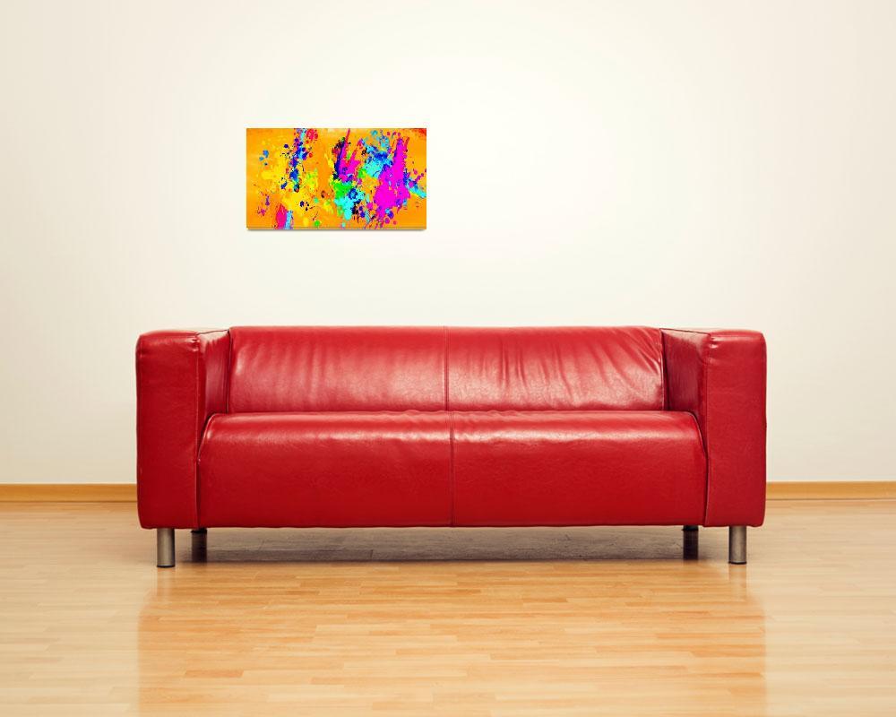"""Color Splash Art 35""  (2016) by positivebusinessdesigns"