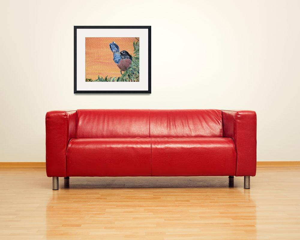 """""""Robin - Song Bird Painting&quot  (2008) by SunfluerDesigns"""