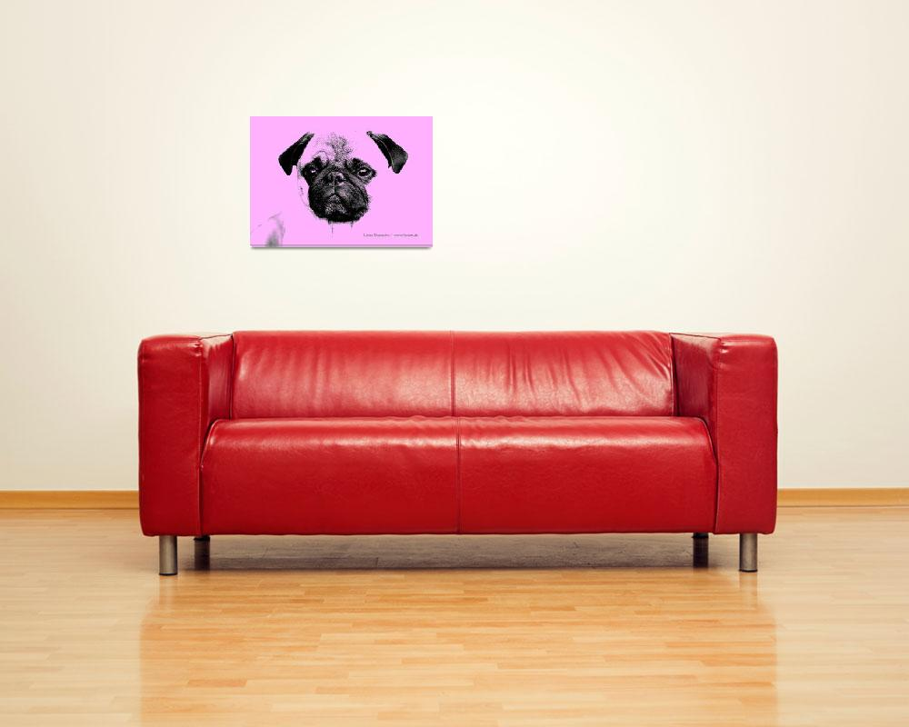 """""""mops puppy in babypink""""  (2012) by fuxart"""